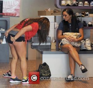Deena Nicole Cortese and Sammi Sweetheart Giancola Jersey Shore cast members visit the FSK store, to buy some new sneakers....