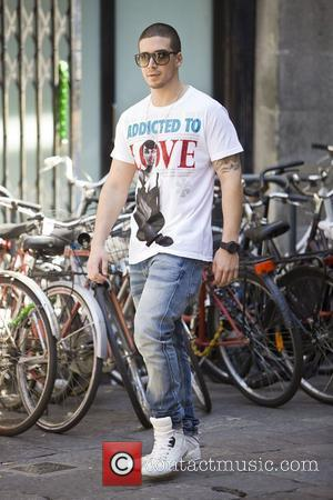 Vinny Guadagnino Jersey Shore cast members walking through the city centre of Florence, where are doing a private photoshoot down...