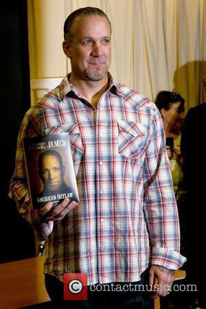 Jesse James  signs copies of his new book 'American Outlaw' at Barnes & Noble 5th Avenue Store New York...