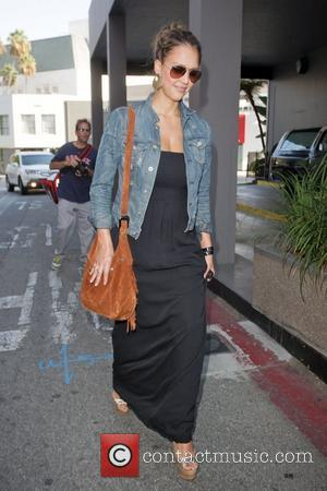 Jessica Alba is in good spirits as she leaves Gavert Atelier in Beverly Hills after having her hair styled Los...