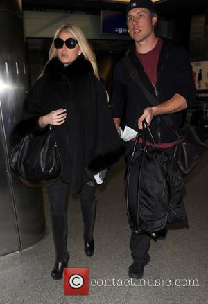 Jessica Simpson and her fiance Eric Johnson at the Eurostar Kings Cross station London, England - 07.03.11