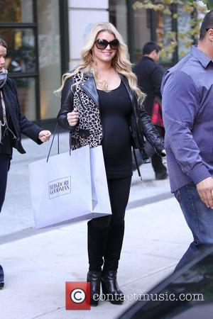 Jessica Simpson, rumored to be pregnant, is seen exiting her Manhattan hotel New York City, USA - 25.10.11