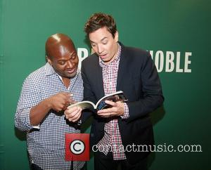 James Poyser of The Roots and Jimmy Fallon at a book signing for his new book Thank You Notes at...
