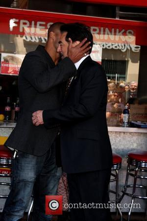 Shemar Moore, Joe Mantegna Joe Mantegna receives the 2,438th Star on the Hollywood Walk of Fame  Los Angeles, California...