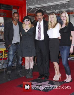 Shemar Moore, Kirsten Vangsness, Joe Mantegna, A.J. Cook and Rachel Nichols Joe Mantegna receives the 2,438th star on the Hollywood...