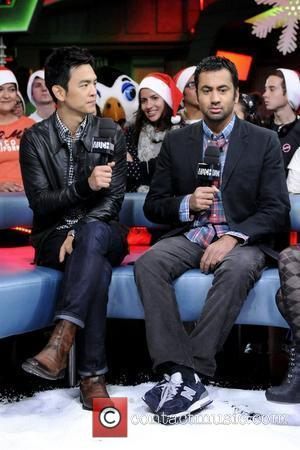 John Cho and Kal Penn  appear on New.Music.Live to promote their upcoming movie 'A Very Harold & Kumar 3D...