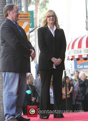 John Lasseter, Bonnie Hunt and Star On The Hollywood Walk Of Fame