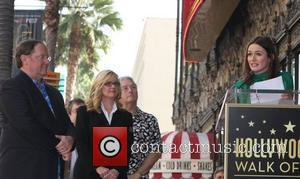 John Lasseter, Bonnie Hunt, Emily Mortimer and Star On The Hollywood Walk Of Fame