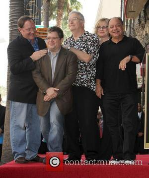 John Lasseter, Bonnie Hunt, Cheech Marin, Patton Oswalt, Randy Newman and Star On The Hollywood Walk Of Fame