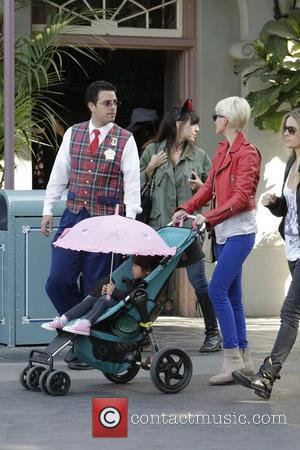 Laeticia Boudou and daughter Jade spending the day together at Disneyland California Anaheim, California - 12.04.11