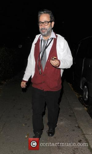 David Baddiel outside the home of Jonathan Ross, enjoying his annual Halloween Party. London, England - 31.10.11