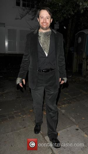 David Mitchell outside the home of Jonathan Ross, enjoying his annual Halloween Party. London, England - 31.10.11