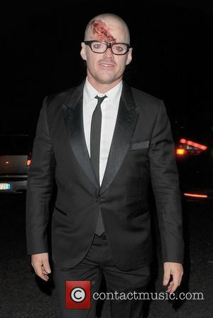Heston Blumenthal outside the home of Jonathan Ross, enjoying his annual Halloween Party. London, England - 31.10.11