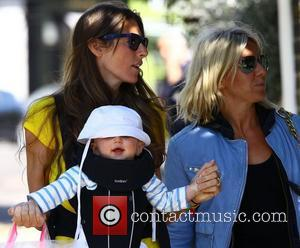 Jools Oliver walking in Primrose Hill with her son Buddy London, England - 04.05.11