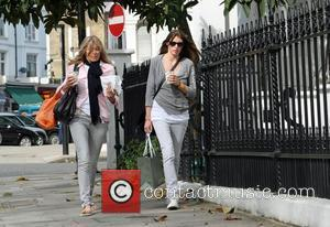 Jools Oliver and her mother walking through Primrose Hill London, England - 24.02.11