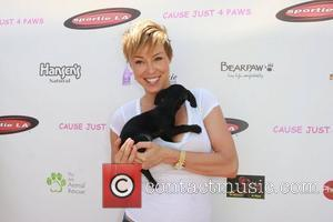 Amy Lynn Grover  Just 4 Paws charity fundraiser in West Hollywood Los Angeles, California - 06.08.11