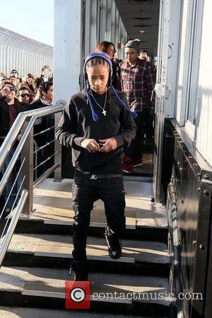 Jaden Smith arrives to show his support on top of the Empire State Building after friend Bieber switched on the...