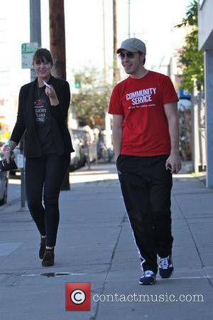 Justin Long and a friend go to Joan's on Third for lunch Los Angeles, USA - 07.02.11