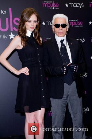 Coco Rocha and Karl Lagerfeld