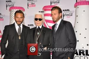 Karl Lagerfeld attends the launch of a new Diet Coca-Cola bottle designed by himself Paris, France - 07.04.11