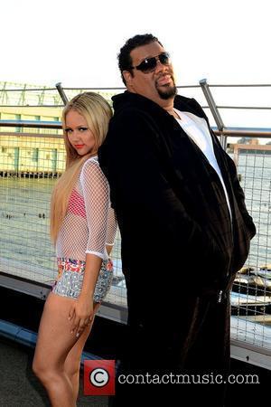 Kat Deluna and Fat Man Scoop  Kat DeLuna 'Drop It Low' video shoot at the Chelsea Piers  New...