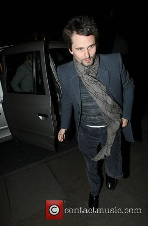 Matt Bellamy of Muse arriving back at his hotel after dining at Scotts restaurant. London, England - 04.02.11
