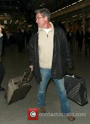 Kurt Russell, Kate Hudson and Goldie Hawn arrive at Kings Cross St. Pancras after traveling from Paris London, England -...