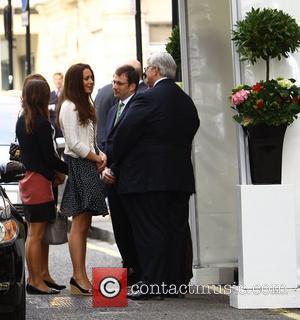 Pippa Middleton, Carole Middleton, Kate Middleton  The Middleton family arriving at The Goring Hotel in central London. London, England...