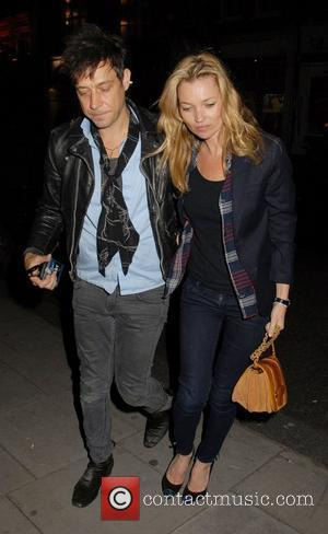Jamie Hince and Kate Moss outside The Hospital Club where Hince's band 'The Kills' performed tracks from their new album...
