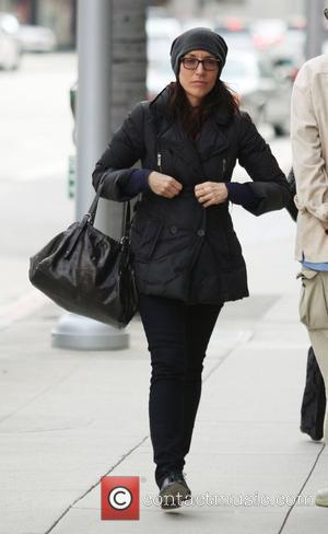 Katey Sagal on her way to a nail salon for a manicure and pedicure at Beverly Hills Los Angeles, California,...