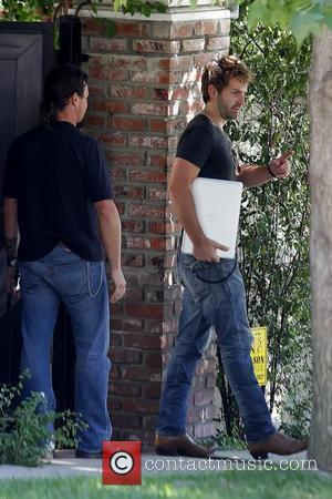 Josh Kelley leaving a private residence with his wife to go to the Staples Center Los Angeles, California - 24.08.11