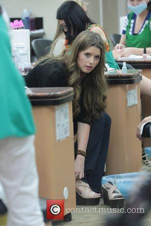Katherine Schwarzenegger getting her nails done in Beverly Hills. Los Angeles, California - 14.06.11