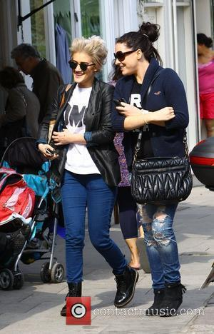 Katie Waissel  and a friend out and about in Primrose Hill London, England - 18.04.11