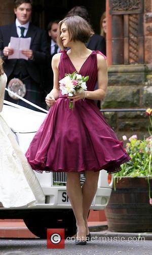 Keira Knightley The wedding of Caleb Knightley and Kerry Nixon at Pollokshields Burgh Hall Glasgow, Scotland - 24.04.11