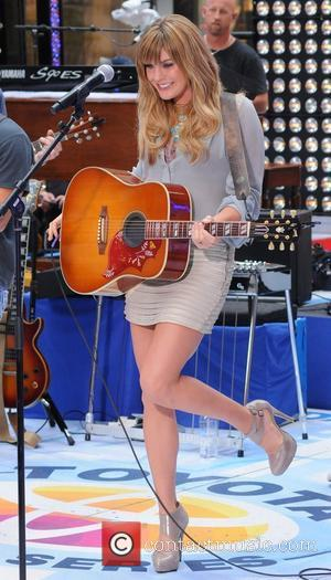 Grace Potter performing with Kenny Chesney live at Rockefeller Center as part of the 'Today Show' concert series New York...