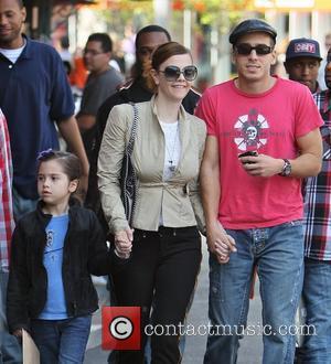 Kiersten Warren and her husband Kirk Acevedo shop at The Grove with their daughter Scarlett James Acevedo Los Angeles, California...