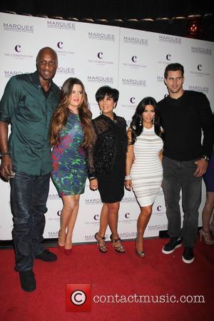 Lamar Odom, Khloe Kardashian, Kim Kardashian, Kris Humphries and Kris Jenner