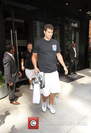 Kris Humphries outside his hotel New York City, USA - 31.08.11