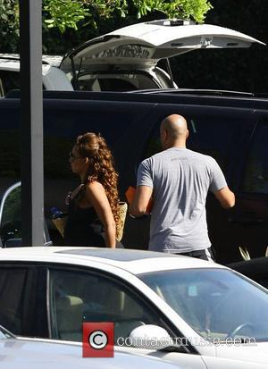 Melanie Brown aka Mel B and Stephen Belafonte Family and guests arrive at the wedding venue of Kris Humphries and...