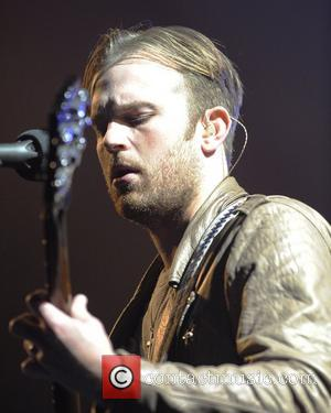 Caleb Followill  Kings of Leon performs on stage at the Air Canada Centre during the band's second concert tour...