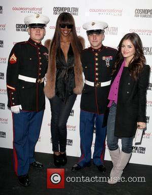 U.S. Marines, Lucy Hale, Jessica White 3rd annual 'Kisses for the Troops' event on Veterans Day, held at Military Island,...