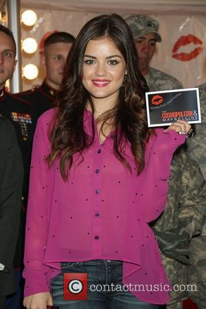 Lucy Hale 3rd annual 'Kisses for the Troops' event on Veterans Day, held at Military Island, Times Square  New...