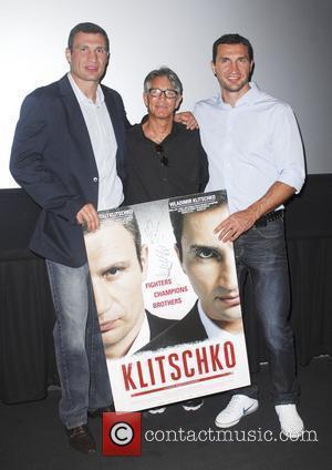 Vitali Klitschko, Eric Roberts and Wladimir Klitschko