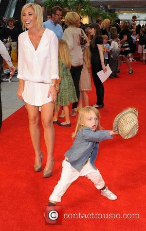 Jenny Frost with her son Kung Fu Panda 2 premiere at Westfield - Arrivals London, England- 05.06.11