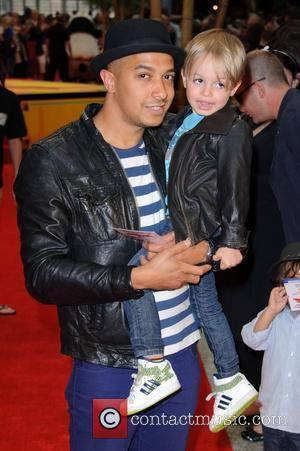 Jade Jones and son Beau Kung Fu Panda 2 premiere at Westfield - Arrivals London, England- 05.06.11
