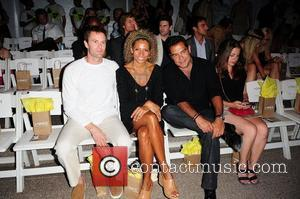Garret Dillahunt, Michelle Hurd and Carlos Gomez  attend the L*SPACE BY MONICA WISE show at Mercedes-Benz Fashion Week Swim...