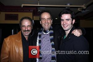 Bruce Winant, Dale Hensley and Michael Lowney After party celebrating the final performance of Kelsey Grammer and Douglas Hodge in...