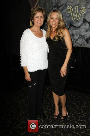 Julie Benz with her Mother World Series Of Boxing Season 2 - L.A. Matadors VS Astana Arlans - Inside held...