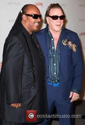 Stevie Wonder and Mickey Rourke