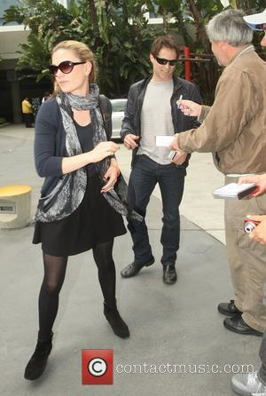 Anna Paquin and Stephen Moyer,  arriving at the Staples Center for the Los Angeles Lakers against Denver Nuggets NBA...